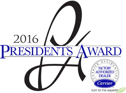 Reliant Air Conditioning Receives 2016 President's Award From Carrier