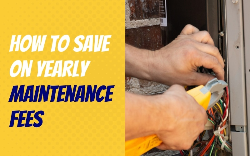 How To Save On Yearly Maintenance Fees